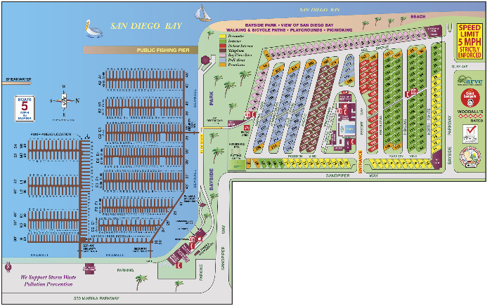 Chula Vista RV resort site map